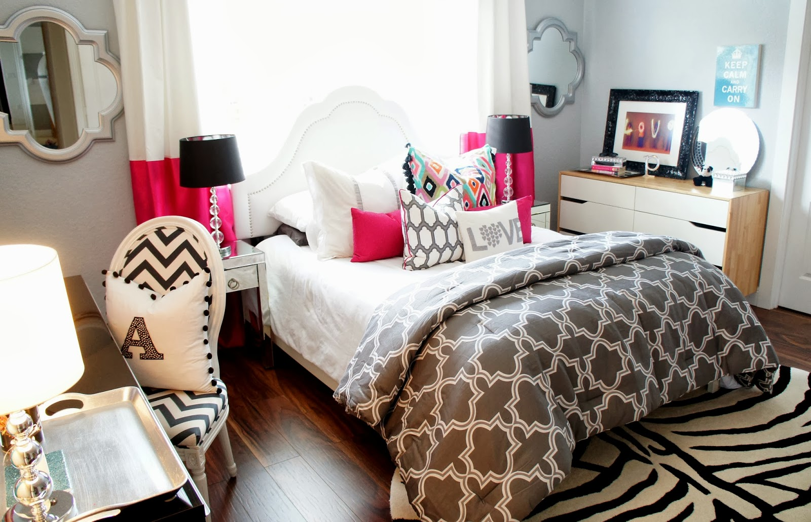 Nice The Cuban In My Coffee Teen Room Makeover The Results For This Amazing Grey Bedroom Design