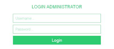 tampilan form login dengan php