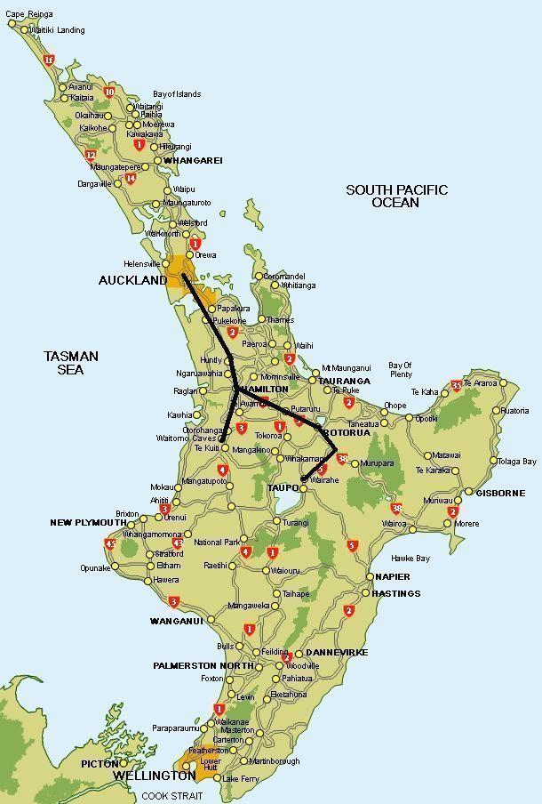 Itinerario por la Isla Norte de Nueva Zelanda