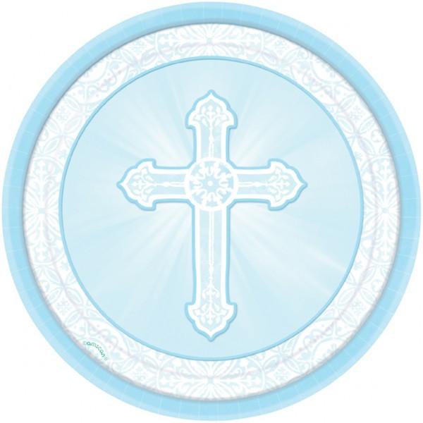 Blue Baptism Cross Lembrancinhas diversas,