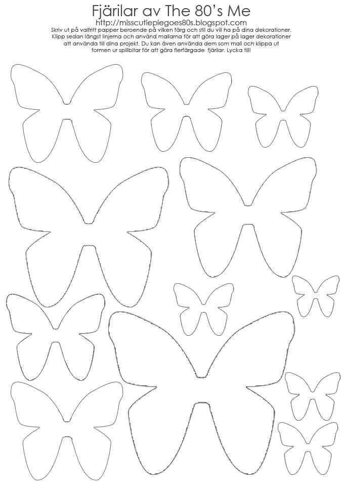 Скачать шаблон бабочки для вырезания