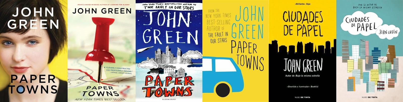 ciudades de papel, paper towns portadas