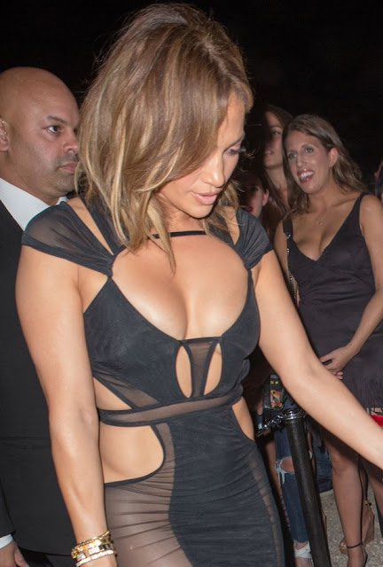 (PHOTOS) Jennifer Lopez Celebrates 46th Birthday Wearing See-Through Dress