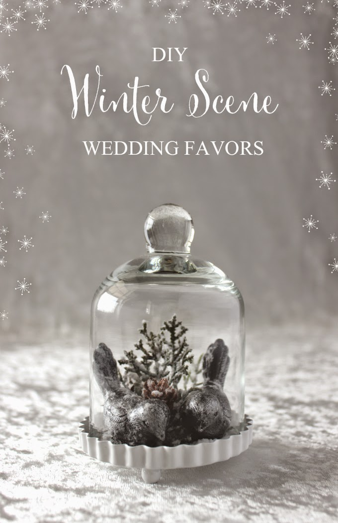 DIY Winter Scene Wedding Favors