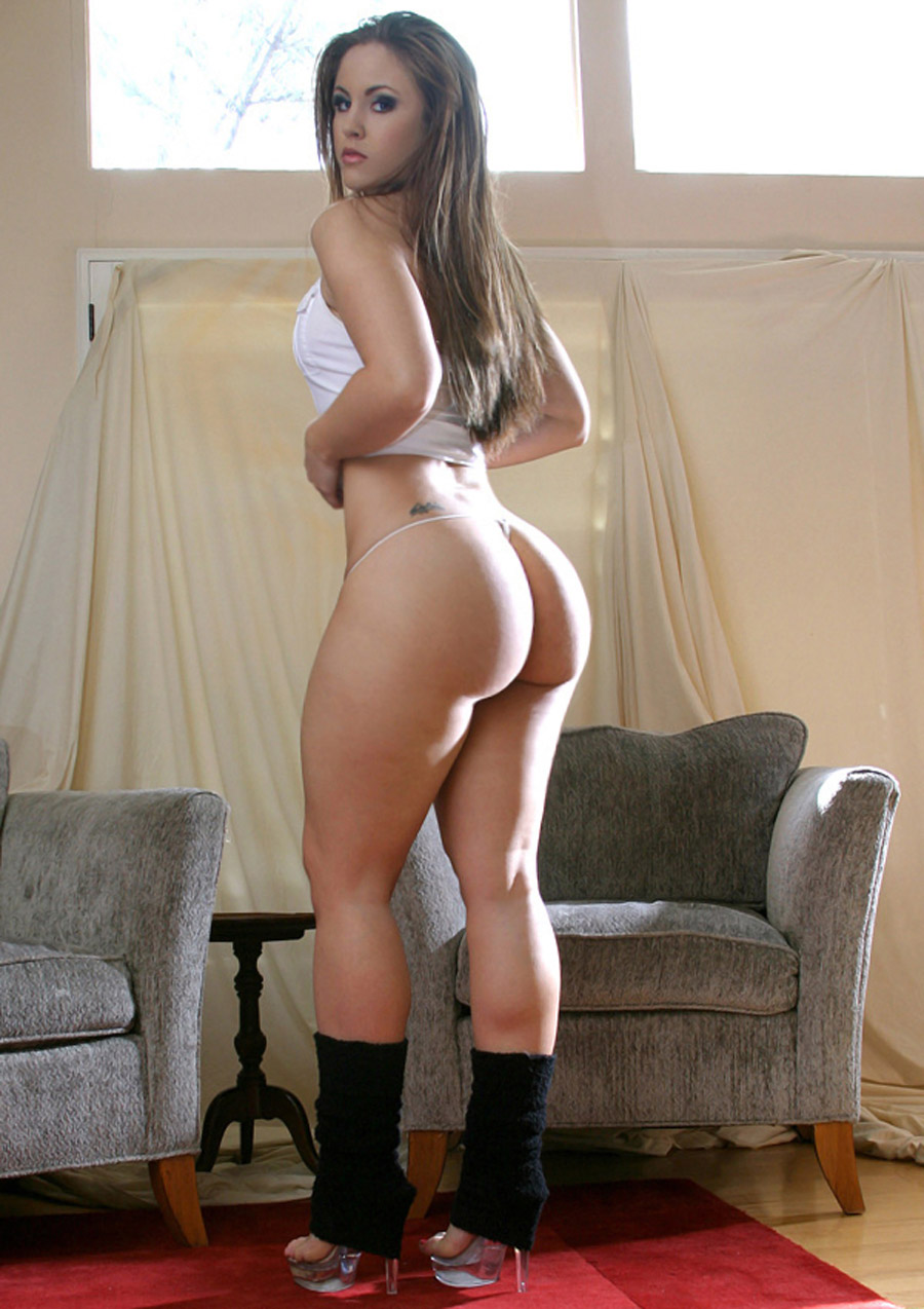 big round sexy white ass