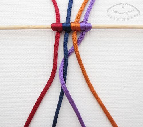 warkocz z czterech sznurków 3