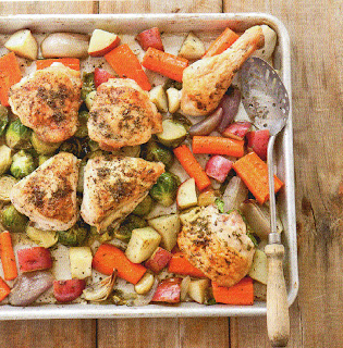 Pan-Roasted Chicken With Root Veggies