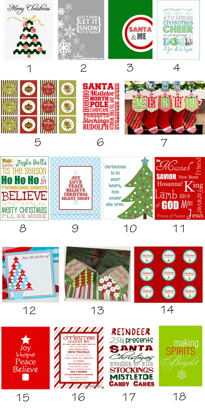 } FREE Christmas Printables...here's the biggest free printables ...