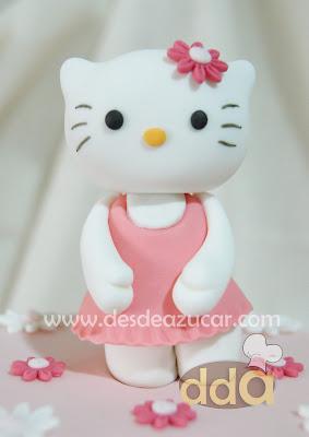 ffondant, kitty, tarta de dos pisos, tarta fondant, tarta fondant Sevilla, tarta de kitty, tarta de flores, hello kitty, tarta de hello kitty,