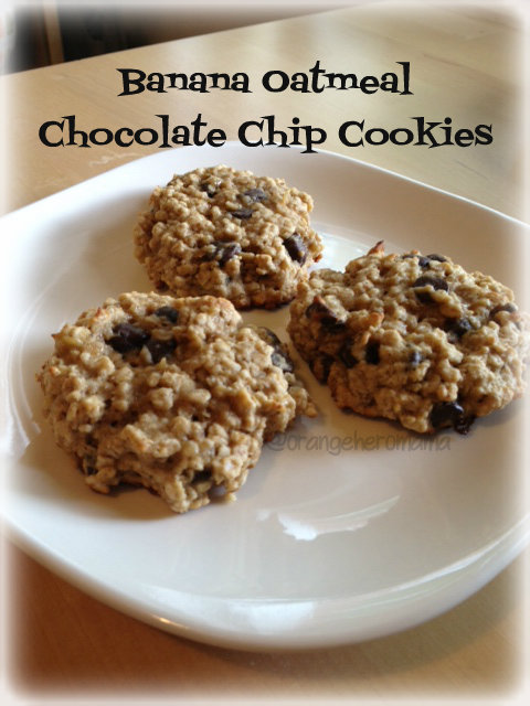 Banana Oatmeal Chocolate Chip Cookies Recipe — Dishmaps