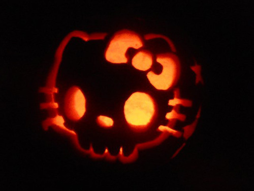 Zombie Hello Kitty pumpkin pattern  Zombie Pumpkins
