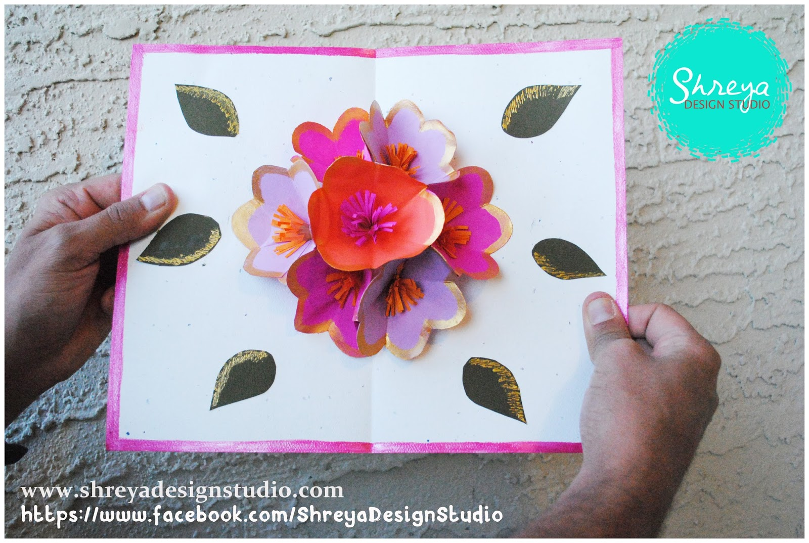 Tutorial how to make a seven flower pop up card shreya design studio tutorial how to make a seven flower pop up card m4hsunfo