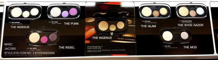 Marc Jacobs Beauty - Style Eyecon No 3 Plush Eyeshadows Palettes - Photos Swatches