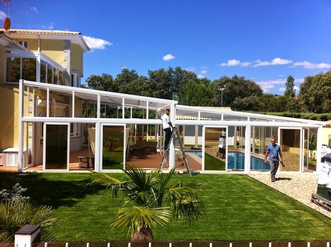 Cerramientos de piscinas con techos moviles en madrid for Piscinas de aluminio