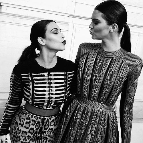 Kendall Jenner and Kim Kardashian Balmain.