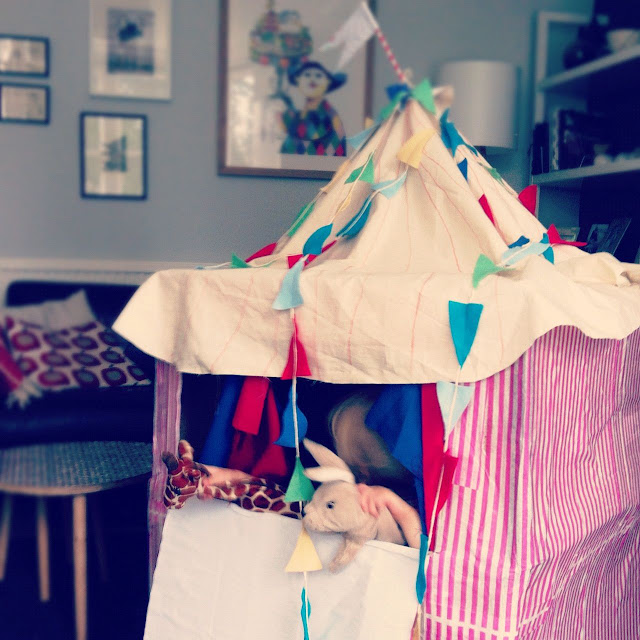 big top tent, playhouse, DIY circus