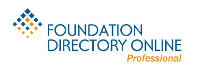 The Foundation Directory Online - In Library Only
