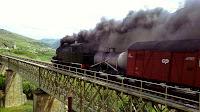 Comboio antigo Douro a cima