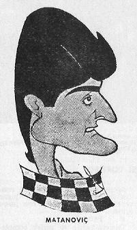 El ajedrecista yugoslavo Matanovic