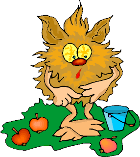 Funny Creature Pick Fruits Free Clipart