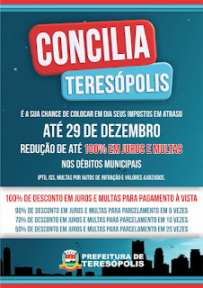 'Concilia Teresópolis': Prefeitura lança programa para pagamento de impostos em atraso