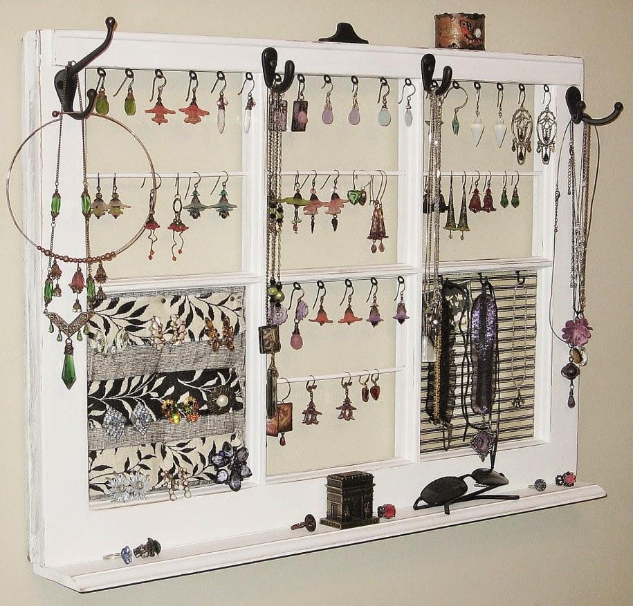 Madame d core un porte bijoux diy for Fabriquer un porte bijoux mural