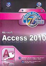 toko buku rahma: buku MAHIR DALAM 7 HARI MICROSOFT ACCESS 2010, pengarang madcoms, penerbit andi