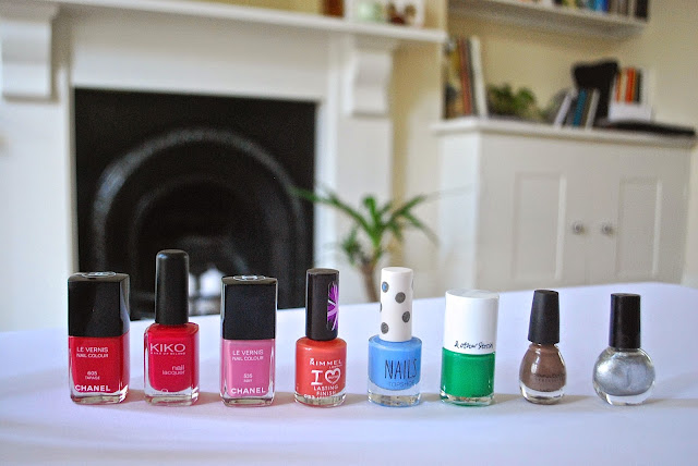 Chanel, KIKO, Rimmel, Topshop , &OtherStories, Sinful Colors & Topshop nail polishes