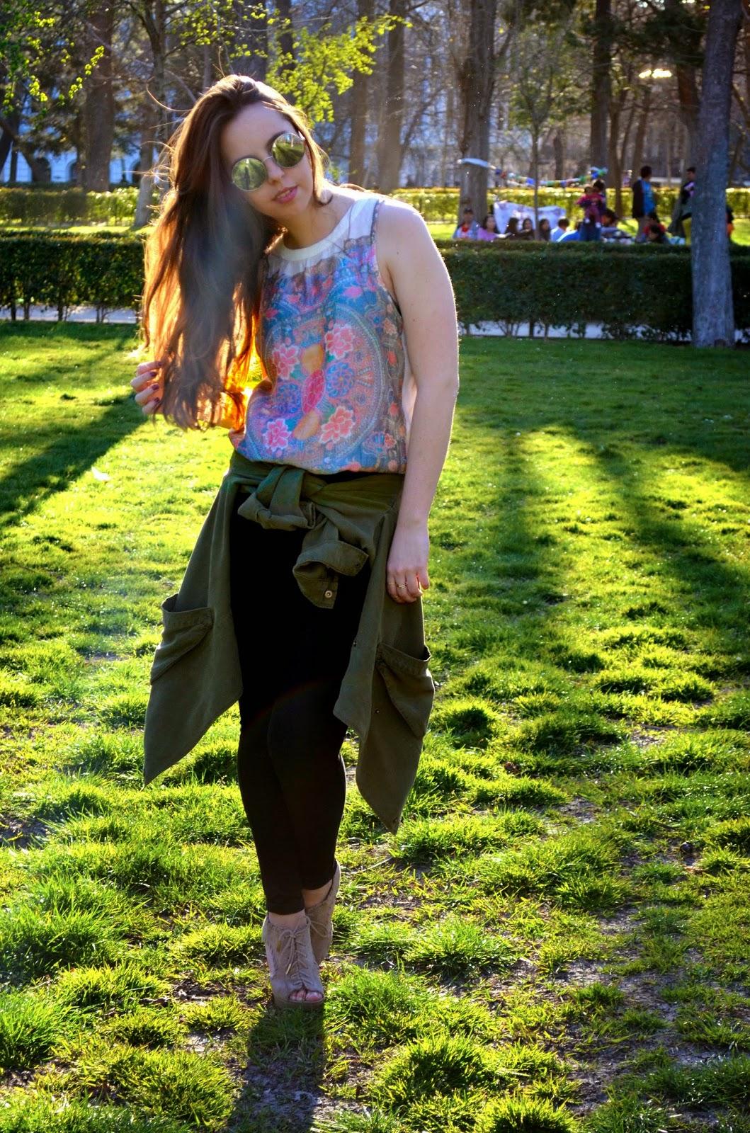 hey vicky hey, victoria suarez, fashion, blogger, spring, hippie, chaqueta militar, primavera