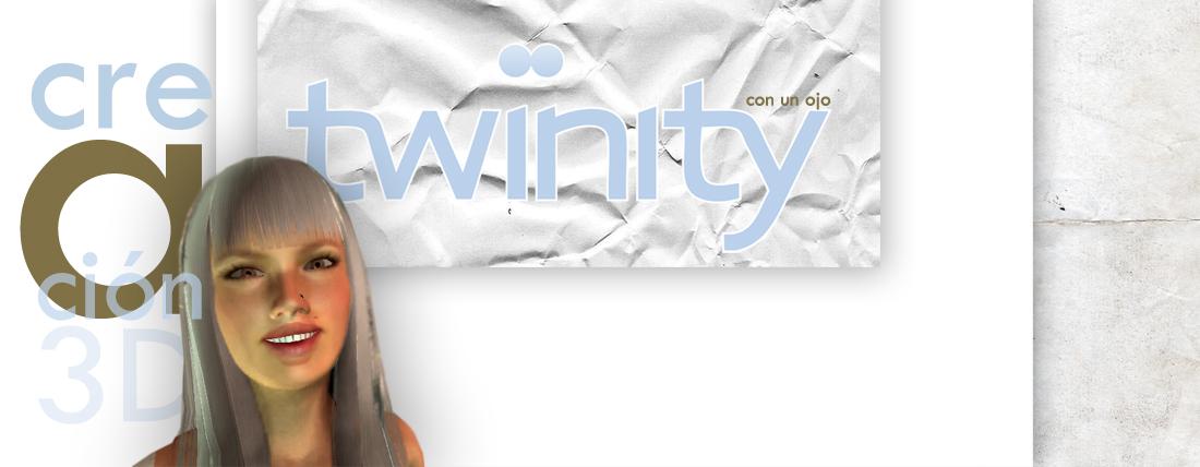twinity con un ojo