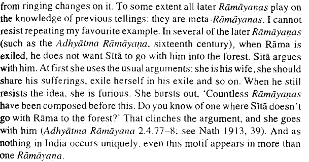 essay on ramayana by a k ramanujan Though valmiki's sanskrit poem ramayana is the most influential among hindu groups first protested against the inclusion of dr ramanujan's essay in the syllabus.