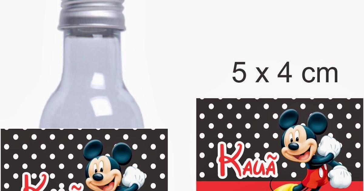 Bella Personalizados: Carina - Garrafinha Mickey