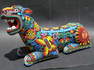 Huichol peyote visionary art