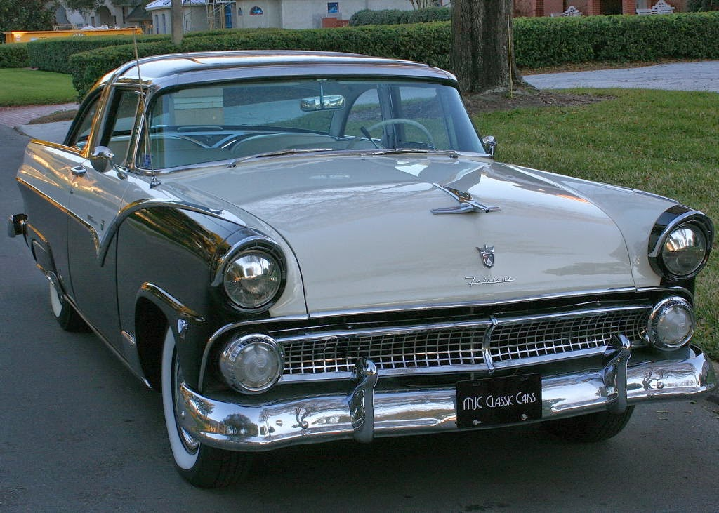 All american classic cars 1955 ford fairlane crown for 1955 ford fairlane 4 door