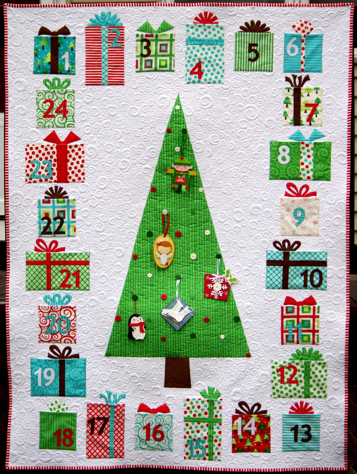 Quilting Patterns Instructions : Ahhh...Quilting: Advent Calendar Quilt Instructions