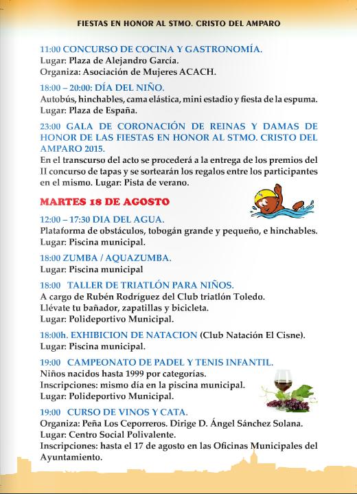 Ferias y fiestas de santa cruz del retamar 2015 for Muebles santa cruz de retamar