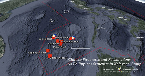 Kalayaan Group of Islands - Structures constructed between China and the Philippines