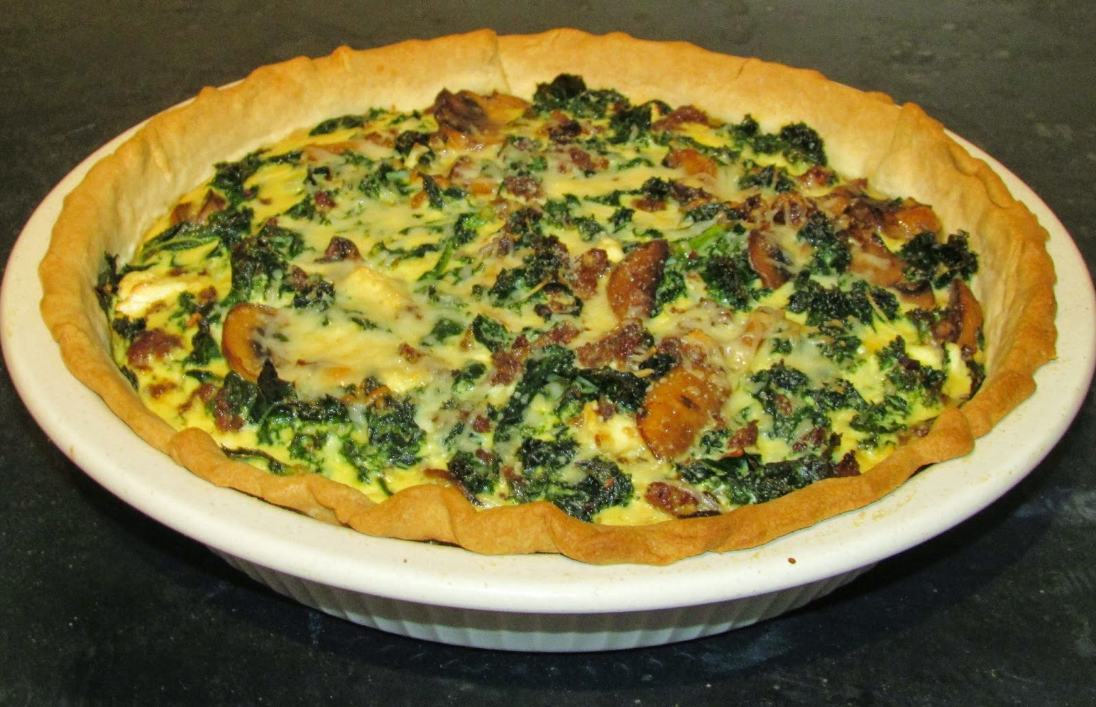 Sausage And Kale Dinner Tart Recipe — Dishmaps