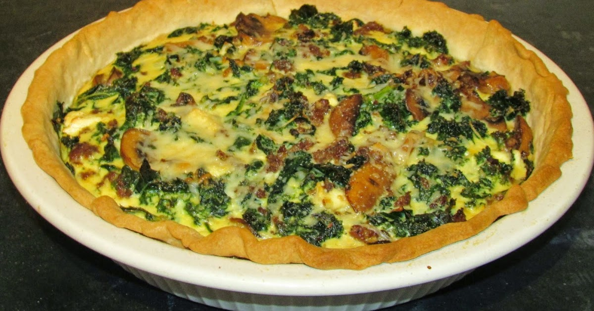 Cooking With Carlee: Sausage, Kale and Mushroom Quiche