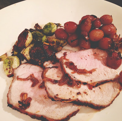 Not-So-SAHM: Grub It Up: Roasted Pork Loin with Grapes