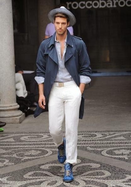 Milijan Marinovic for Roccobarocco show,Milano fashion ...