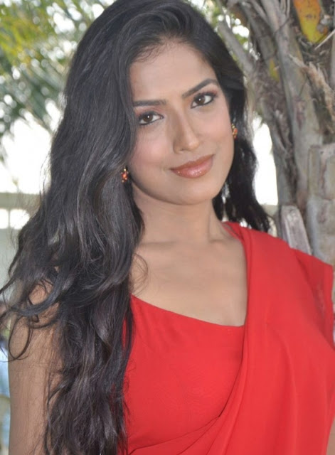 Actress Kanishka soni in Hot Red Saree Photos