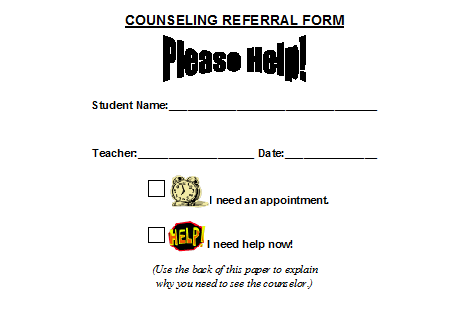 The Handy School Counselor: Referral Forms/Individual Sessions