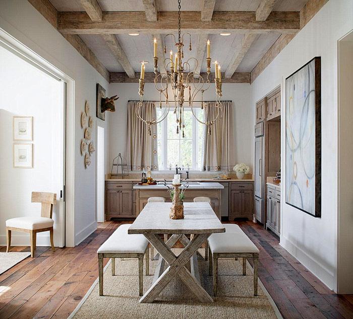 mesas de  comedor- madera caballete elegante