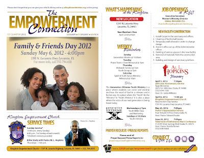 Al Hopkins Ministries - The Empowerment Connection Newsletter Design