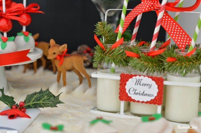 Christmas Baby Deer Party by BistrotChic
