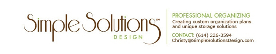 Simple Solutions Design Professional Organizing