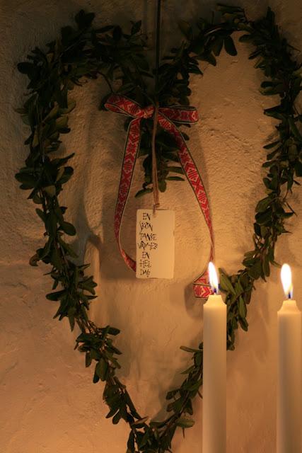 julkrans, jul, lingonsris, pyssel