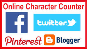 Online Character counter for blogger title and description , pinterest , twitter