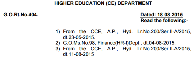AP GO 404 Guidelines for transfer of Collegiate Education Employees,AP Go.No 404 Collegiate Education Employees Transfers Guidelines,AP GO 404 Guidelines for transfers , Collegiate Education Department transfers 2015 , go 404 dated 18-08-2015 , go 44 transfers of college employees ,Criteria for entitlement of points, minimum of (2) two years